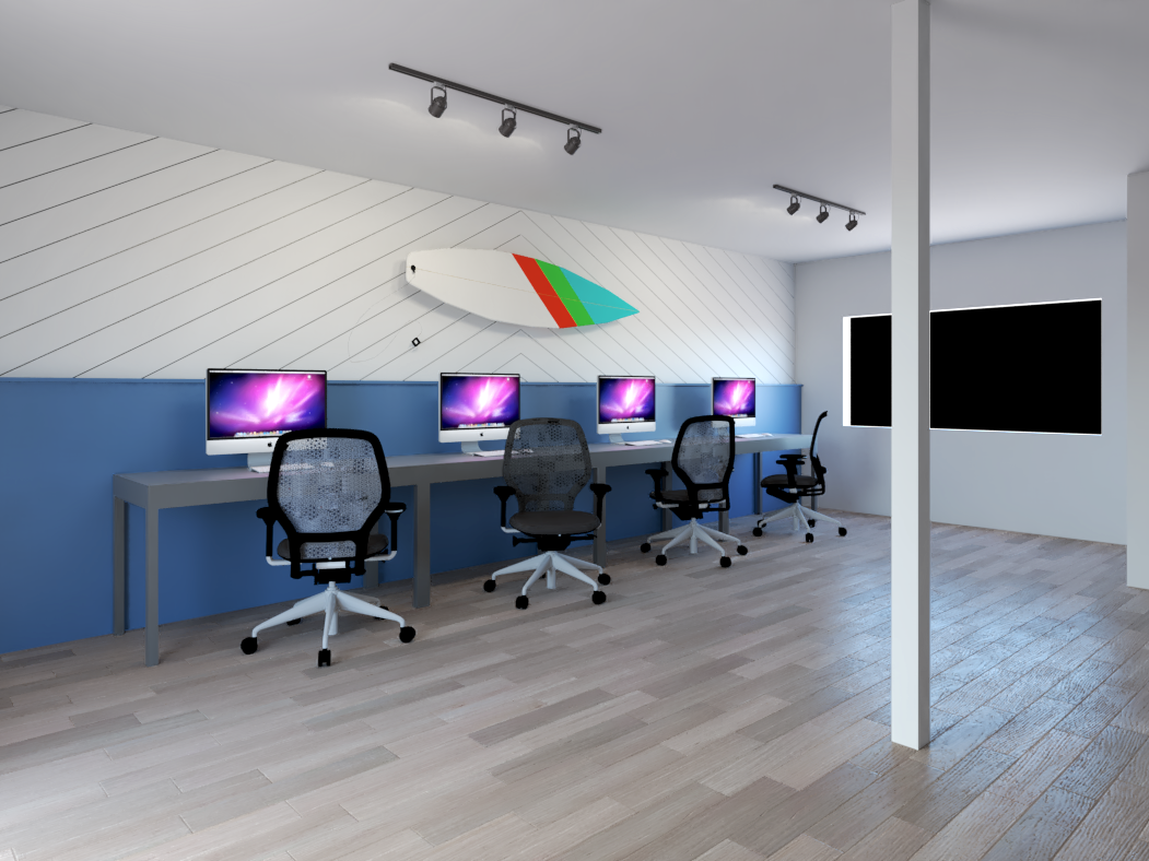 A rendering of the new office prior to any renovations. // Credit:  Casey Jones