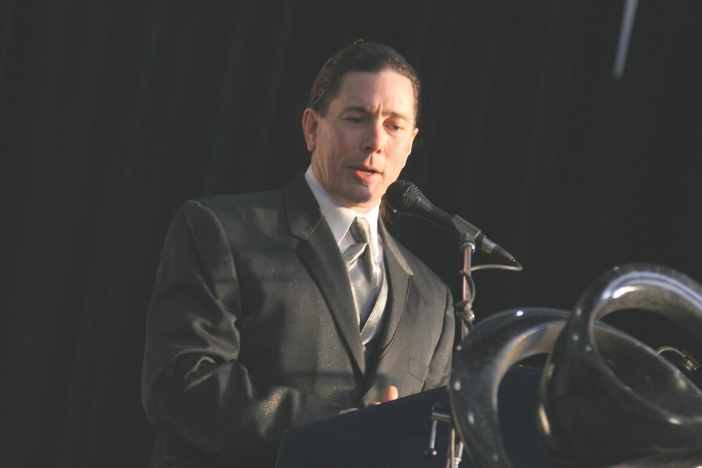 Emceeing a black-tie gala | 2009