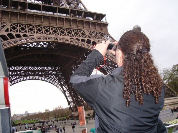 Photo inside of photo. Some big tower in Paris, France. Can't recall the name | 2008