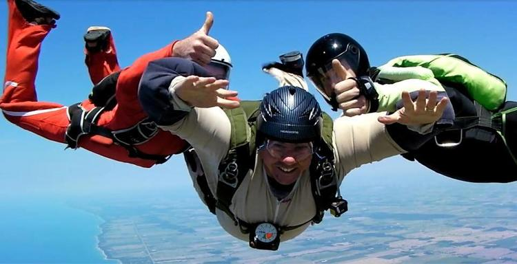 8000 foot jump including a 4000 foot free-fall | 2012