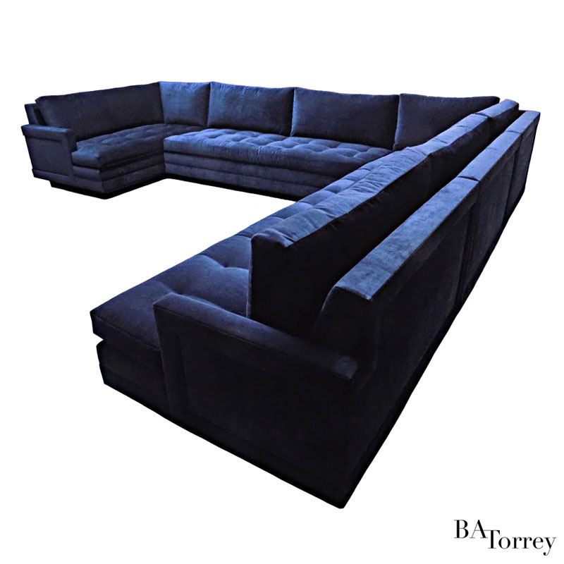 Gemma Dropped-Arm Sectional Sofa - B.A. Torrey