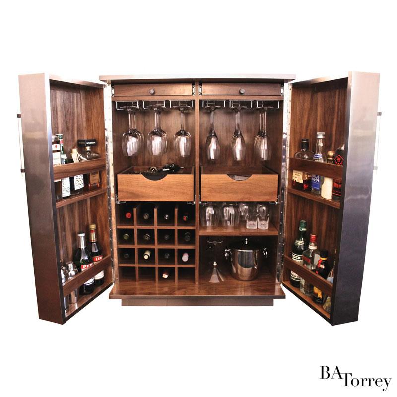 Jax Metal-wrapped Bar Cabinet - B.A. Torrey