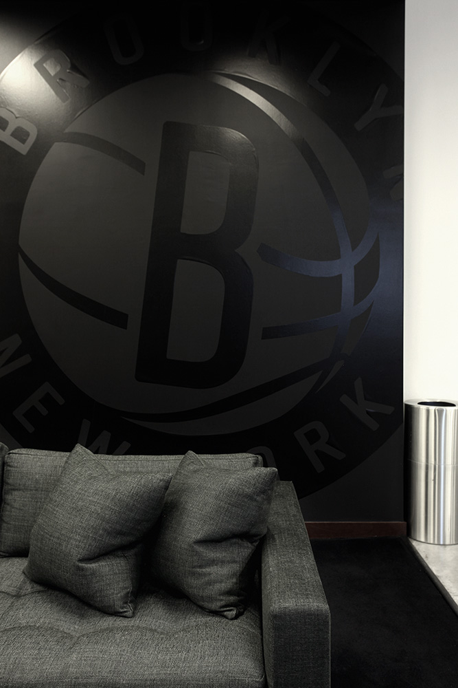 BROOKLYN NETS - BARCLAY'S CENTER OFFICIAL PLAYER'S LOUNGE - BROOKLYN, NY - DESIGN BY BA TORREY
