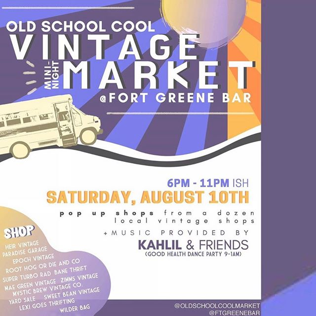 The vibes and the vintage will be flowwwwing this Saturday night. Don't miss this Denver! You'll be sad, and have to wait anxiously for the next gathering of these Grade A vendors. Don't be sad, don't be anxious.