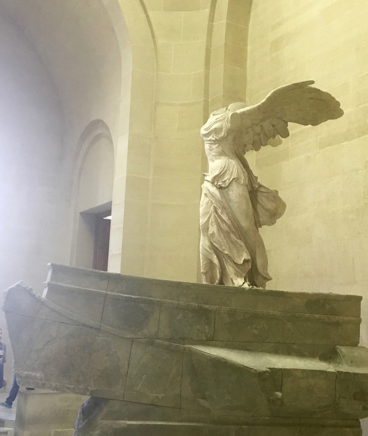 Fun fact:  When this sculpture was carved 2,000+ years ago, humans still had wings.  Just kidding.  I'M JUST KIDDING, YOU GUYS. SHEESH.
