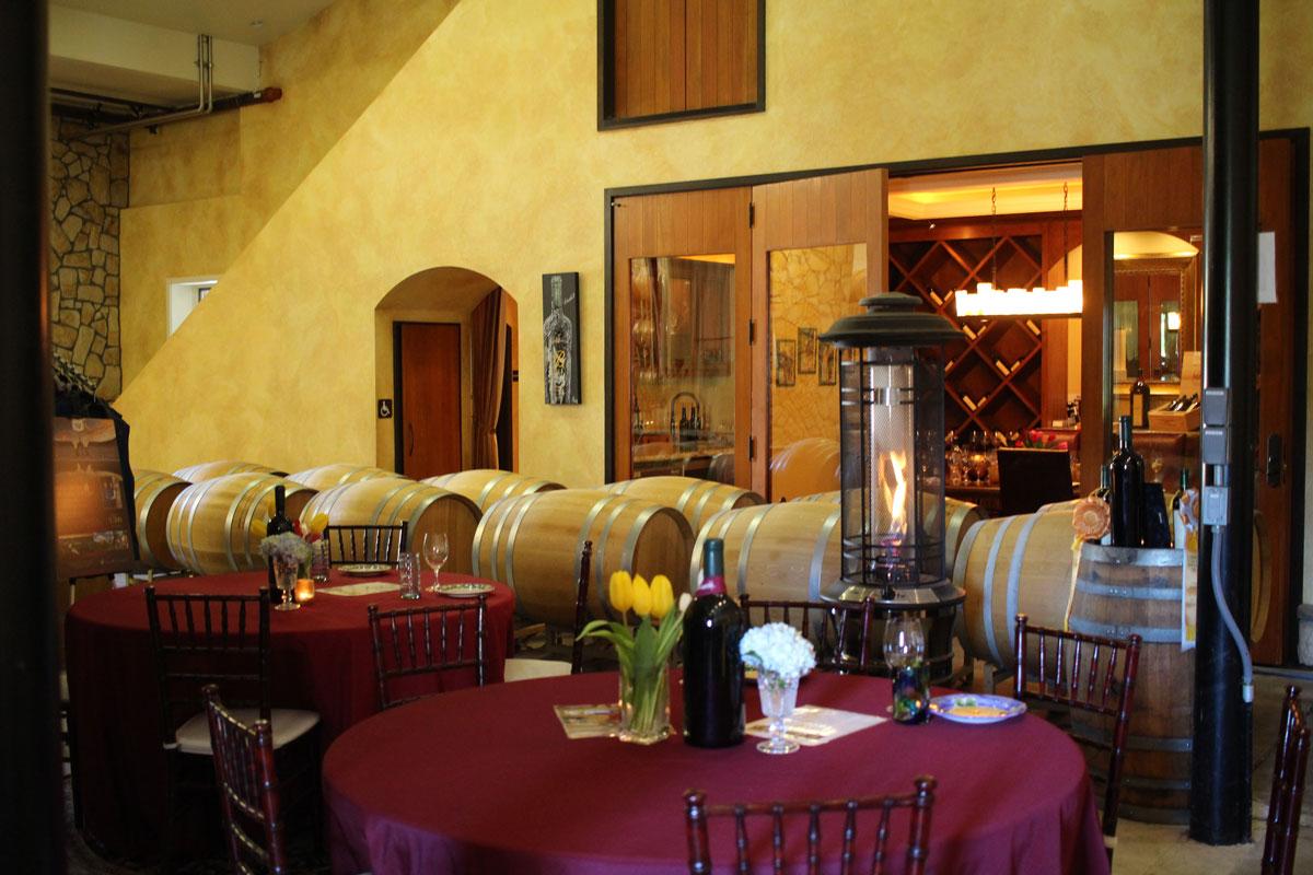 Tasting at Bell Wine Cellars Napa