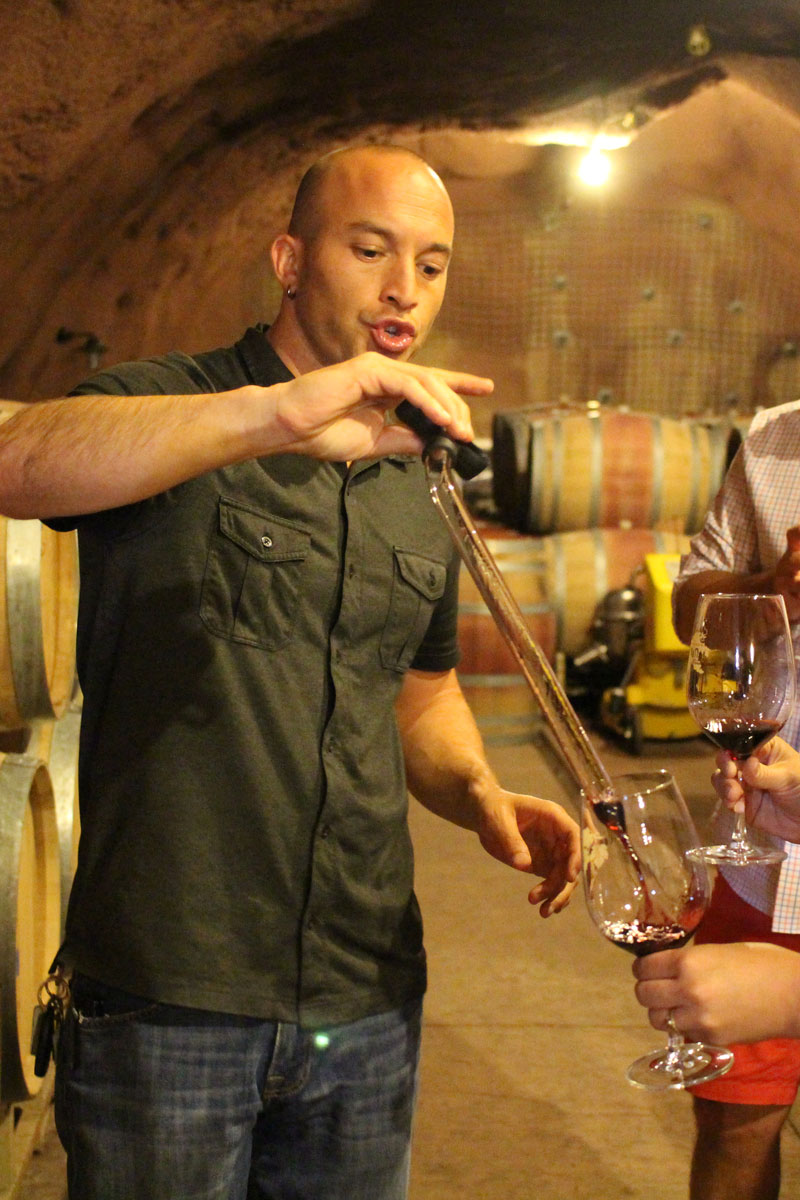 Conn Valley Winery cave tasting