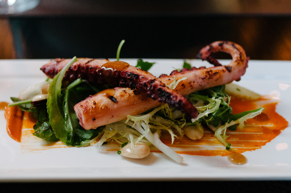 Harvest Table grilled octopus in Napa