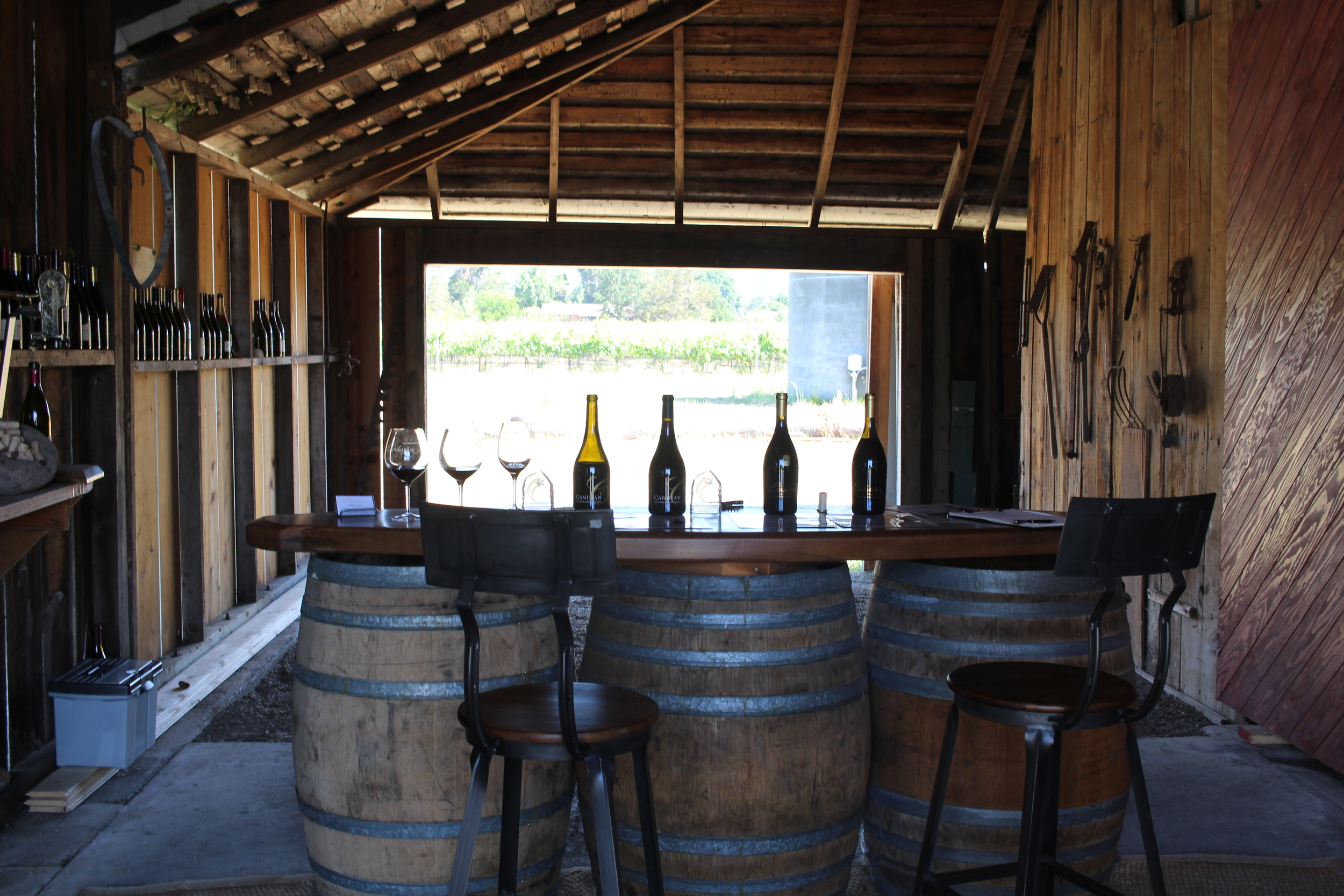 Canihan Winery's tasting room is as simple as it gets