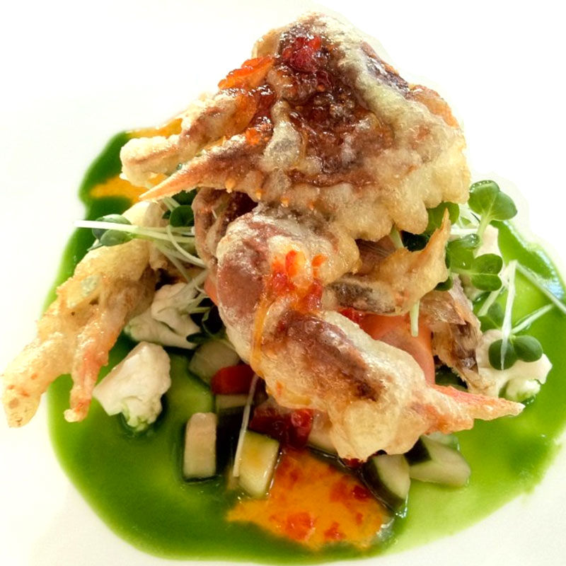 Soft shelled crab (photo by Cherlynn http://tinyurl.com/ztc8oua)