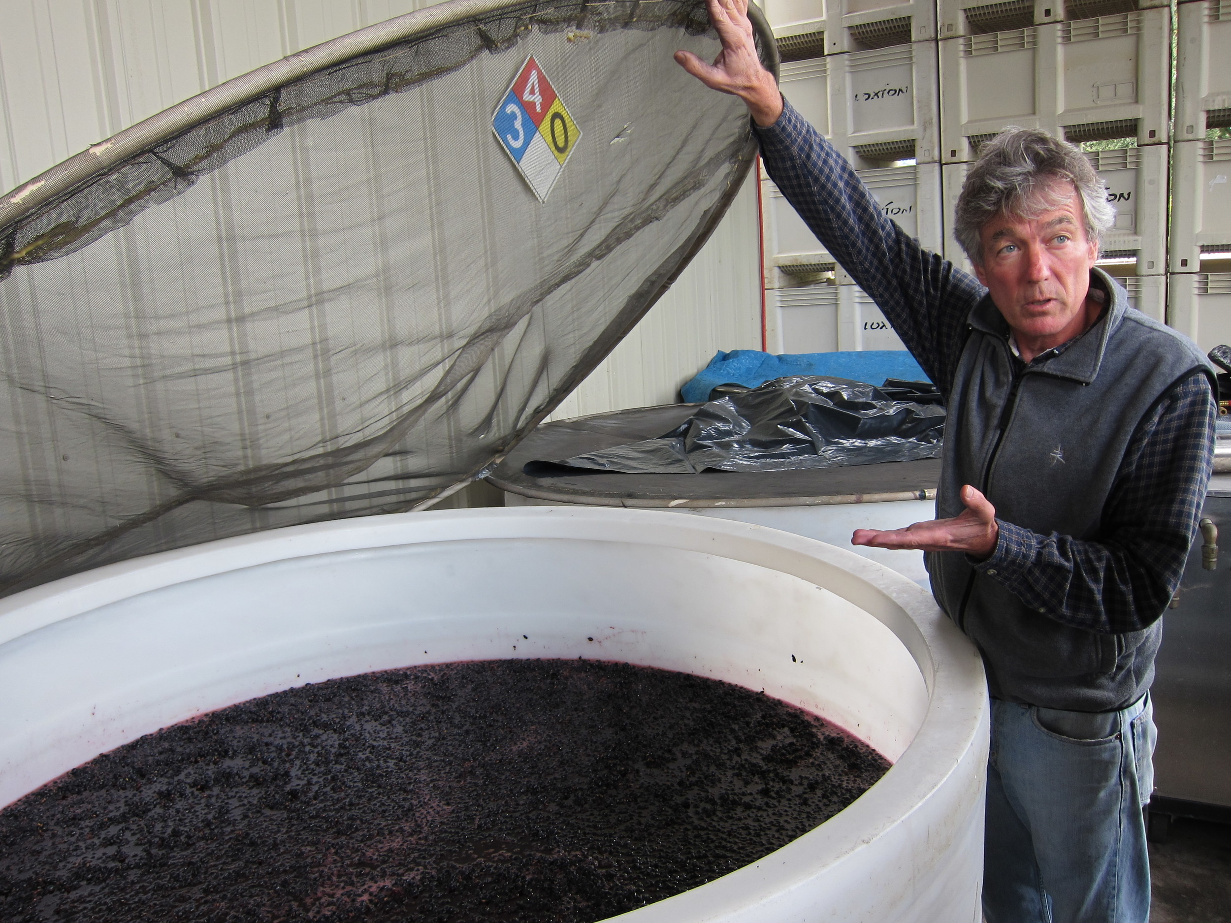 Chris Loxton explains the wine production process in Sonoma