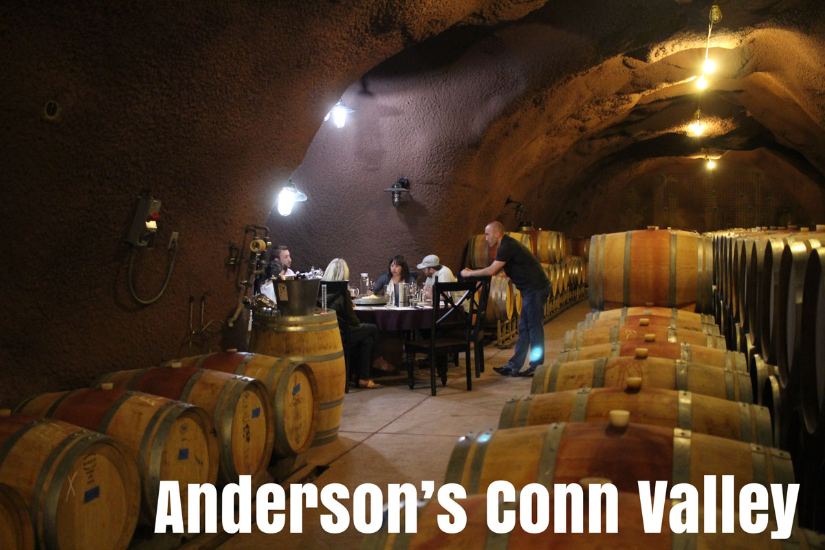 Go taste in a cave at Anderson's Conn Valley