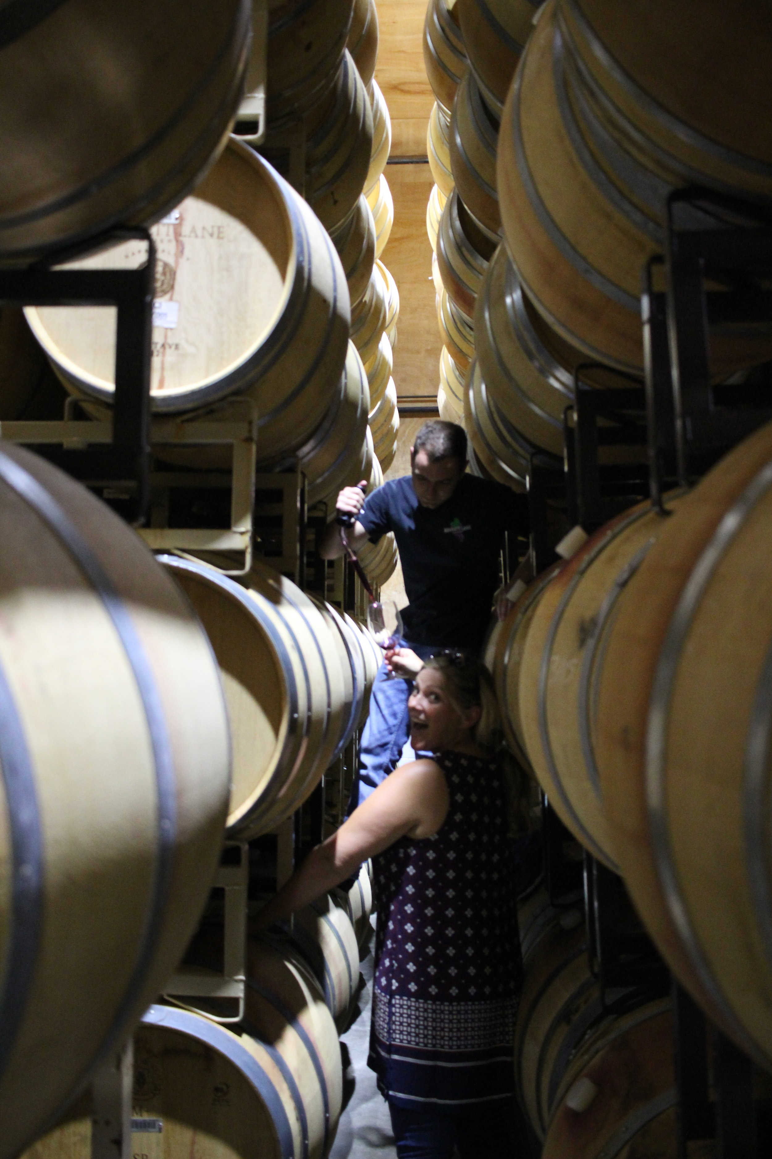 Expect the unexpected like barrel tasting or tasting in a cave!