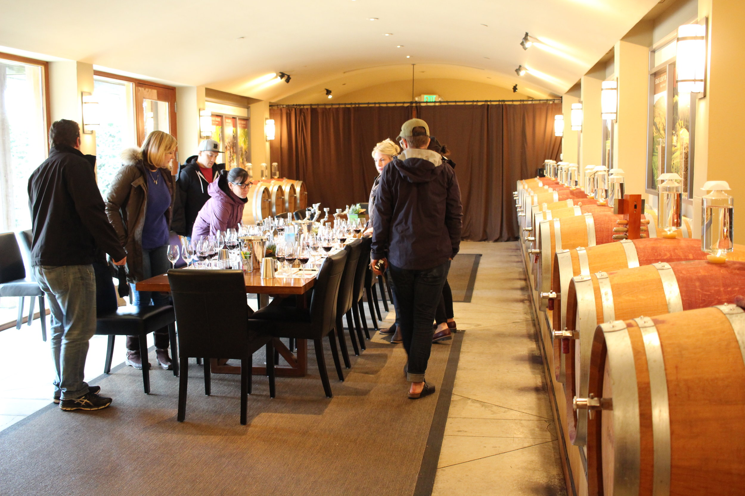 Getting Set up for some seriously fun wine blending at Conn Creek Winery in Napa