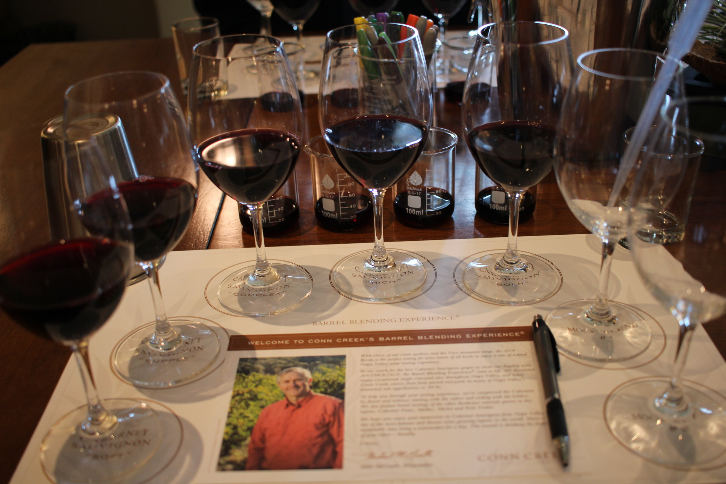 Lots of Wine at the Conn Creek Blending Experience