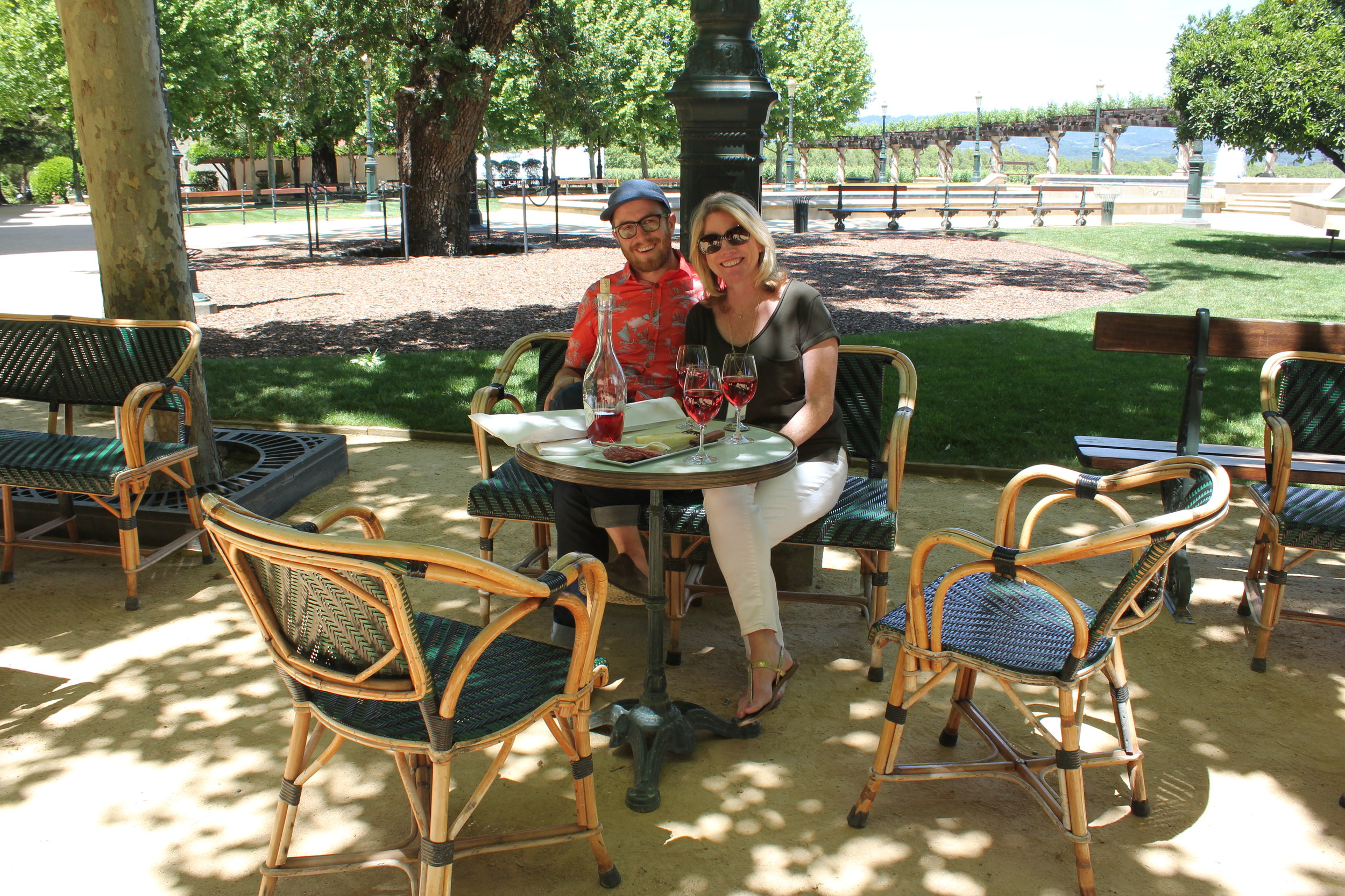 Easy sipping at Inglenook Winery in Napa