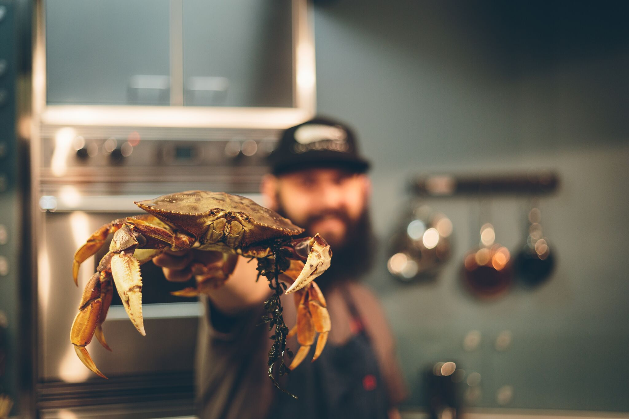 You know isn't going to be a boring lecture when there are crabs involved! (Culinary Institute of America presents Conversations at Copia)