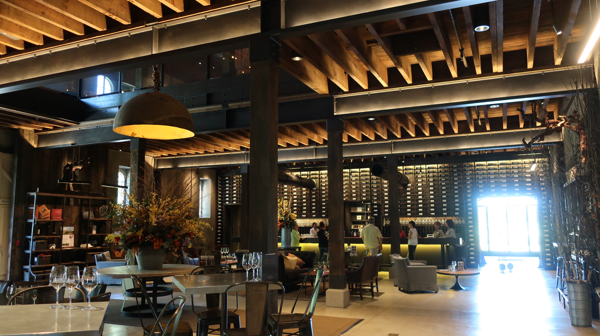 Cool and hip winery, and great wines to match at Charles Krug Winery in Napa.