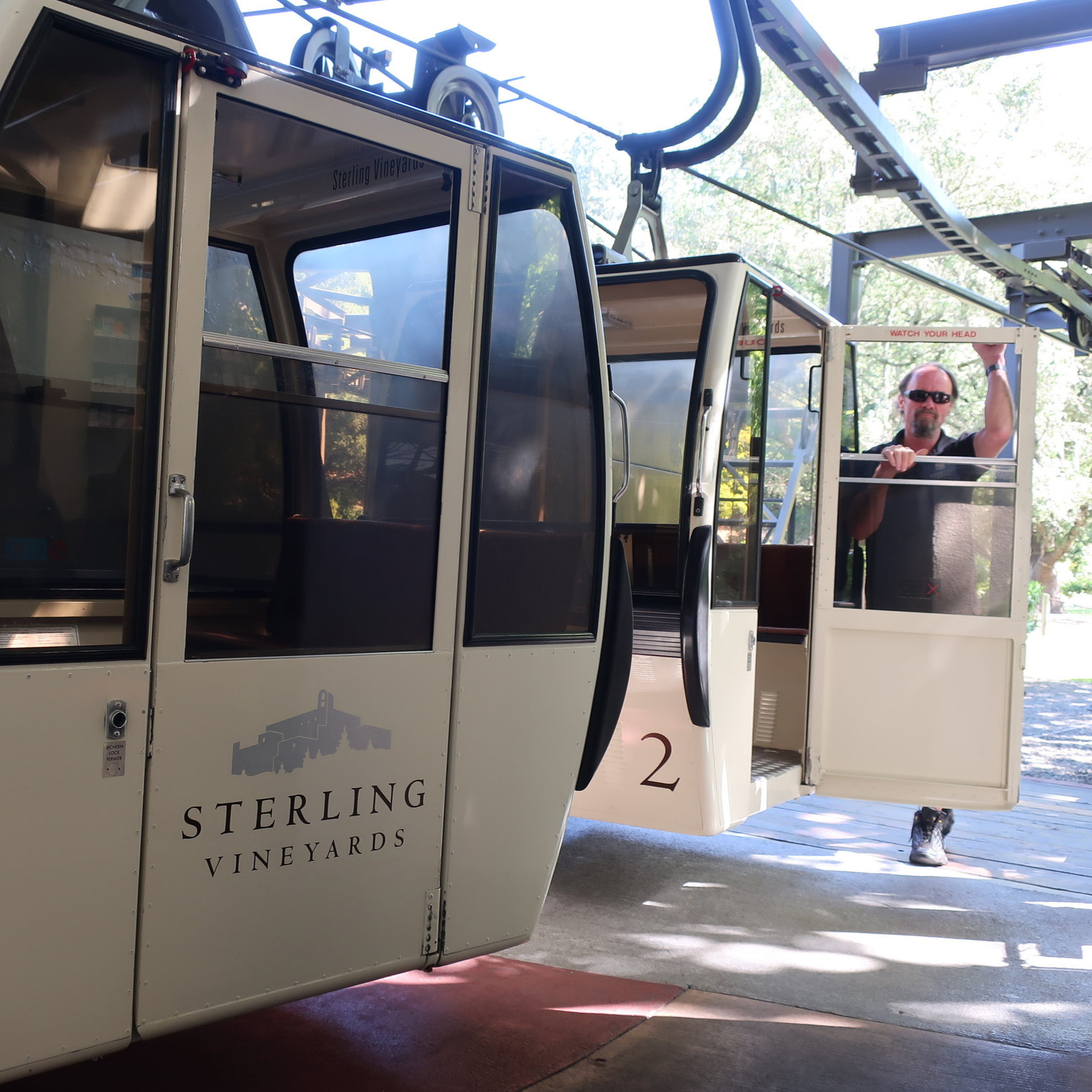The famous Sterling Vineyards Tram
