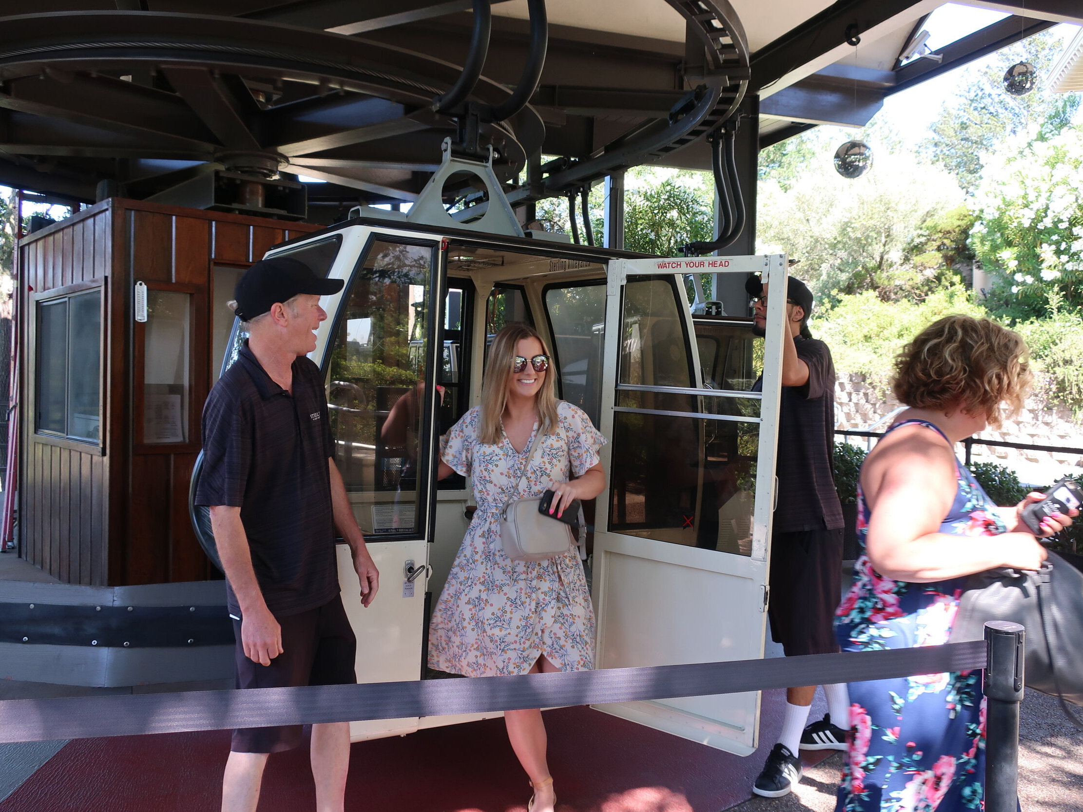 Sterling Vineyards and the famous tram ride, Napa Valley