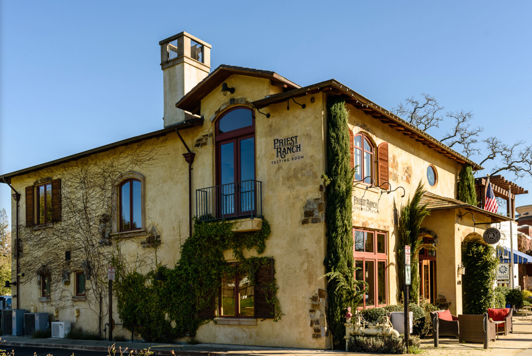 Priest Ranch Winery in Yountville (Napa Valley) Photo Credit: Priest Ranch Winery