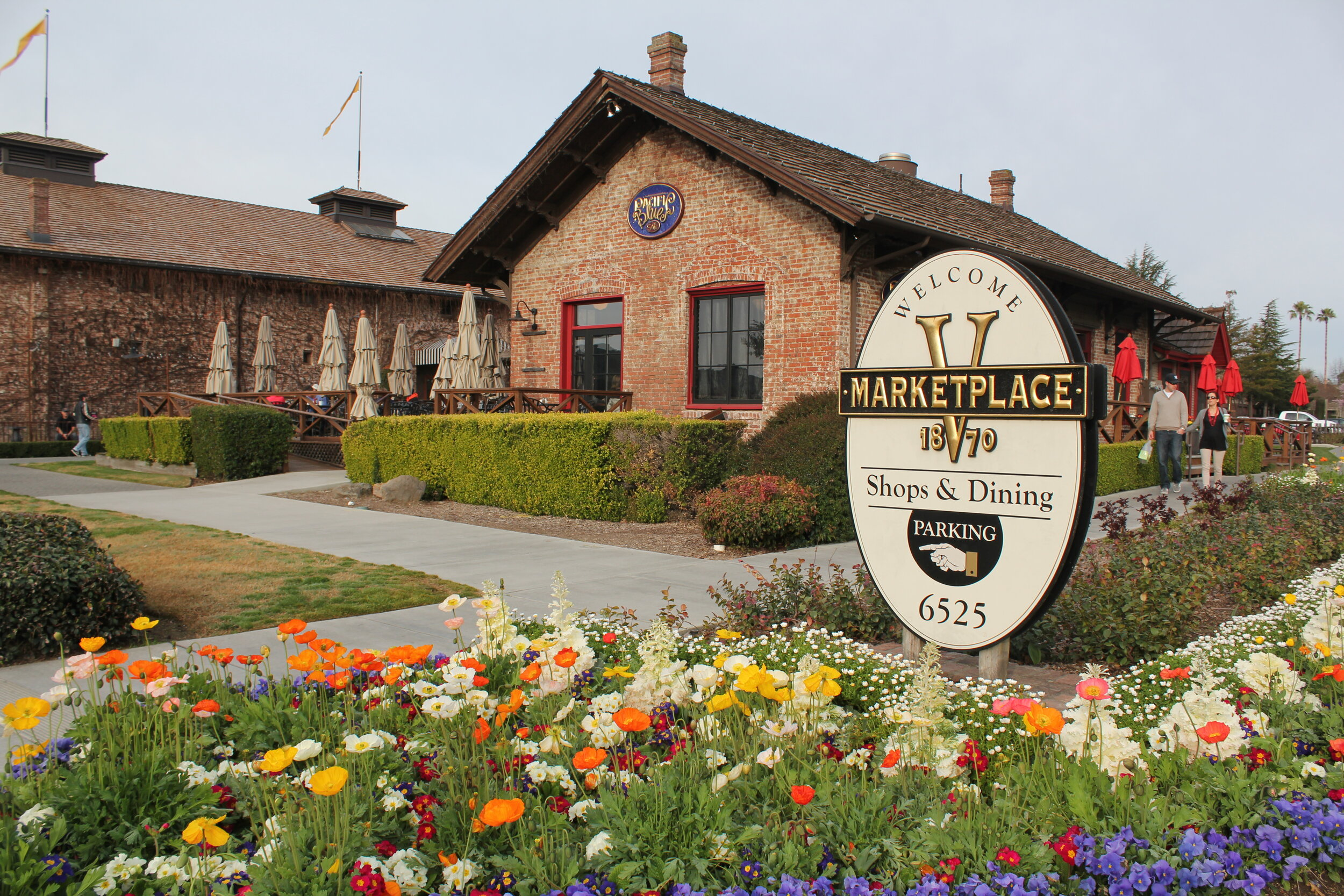 V Marketplace 1870 has plenty of shopping and food options as well as wine tasting.