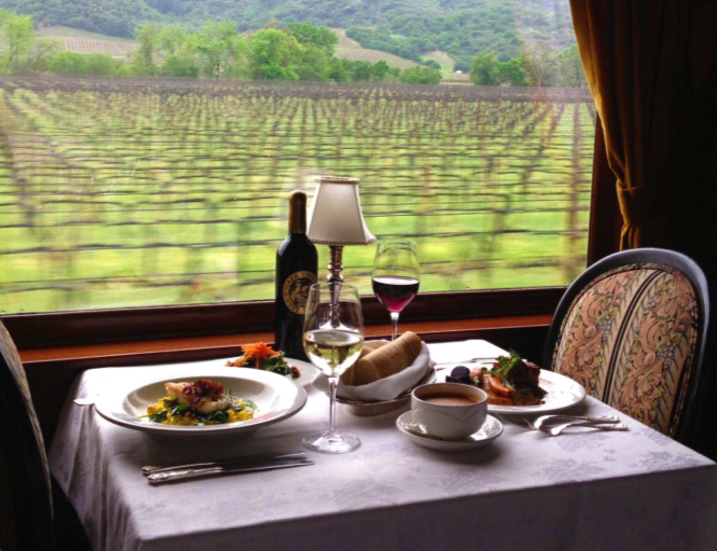 Thanksgiving Dinner on the Napa WIne Train