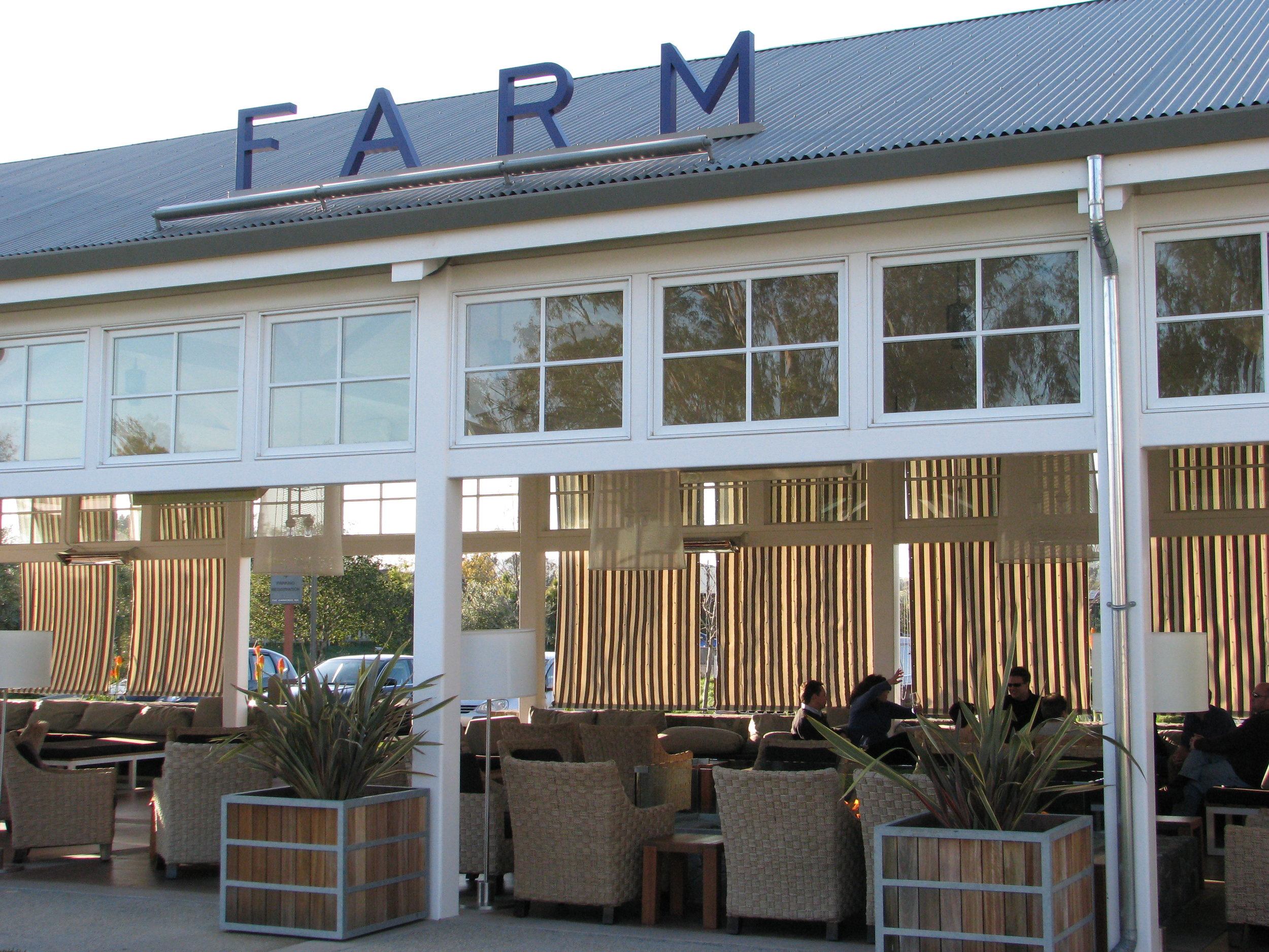 Farm Restaurant in Napa in the Carneros area