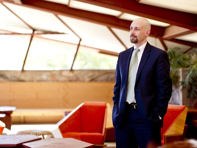"Photo from the Arizona Republic.  Click here to read their article ""5 Milestones of Wright CEO Sean Malone."""