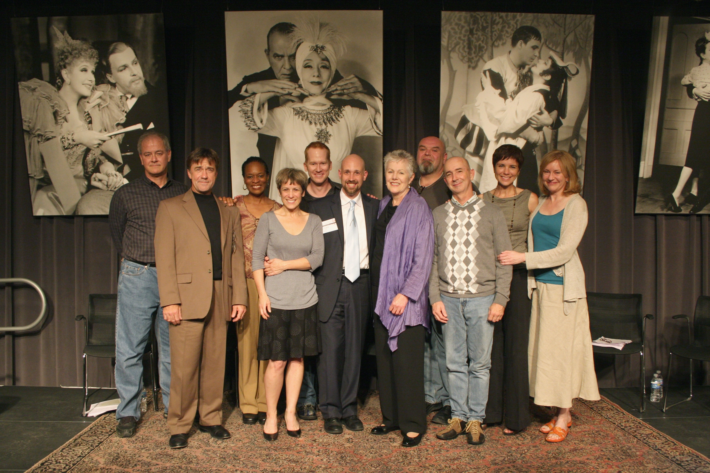 Sean with Master Teacher Lynn Redgrave and the Inaugural Class of Lunt-Fontanne Fellows, 2009