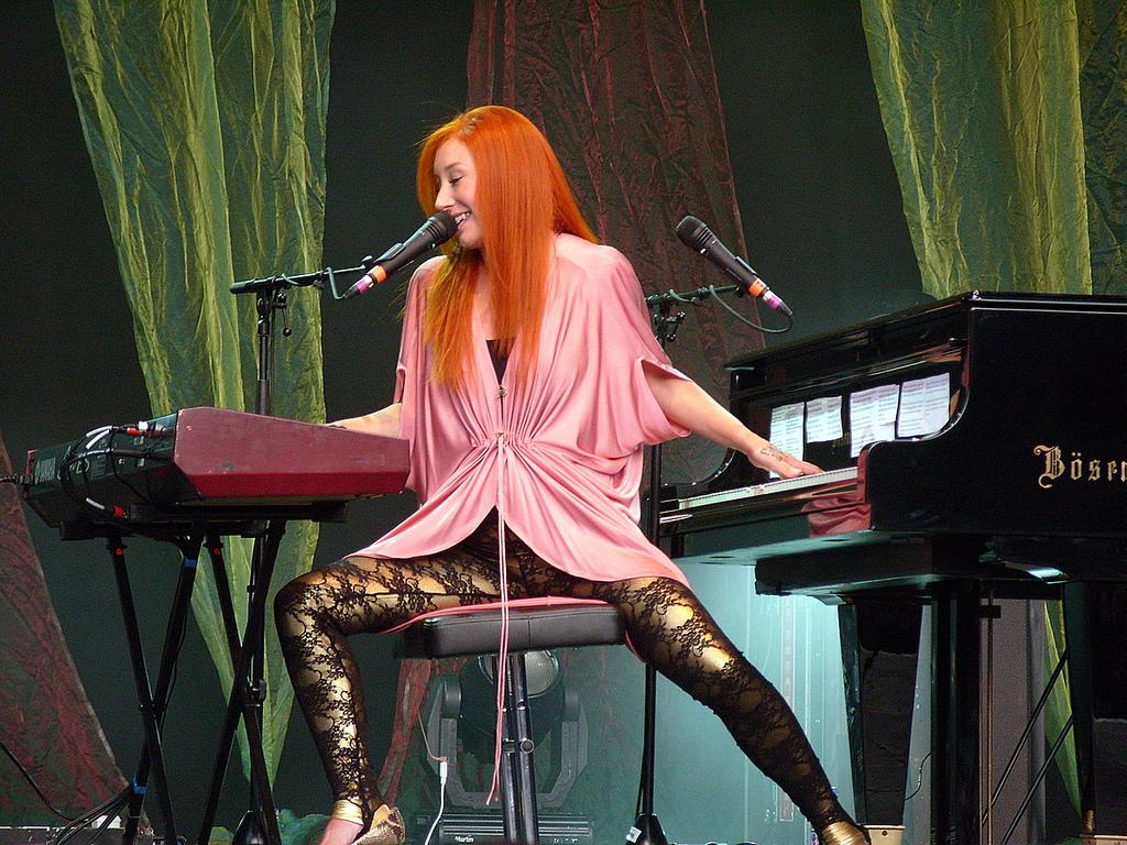 Tori Amos at her piano and keyboard