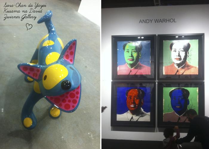 Yayoi Kusama e Andy Warhol ArtRio