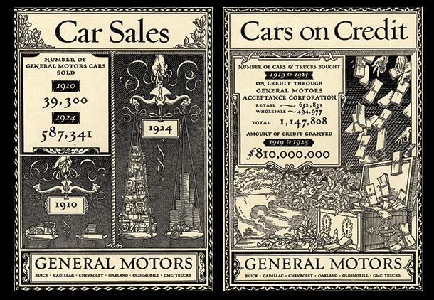 1920's General Motors car sales publication