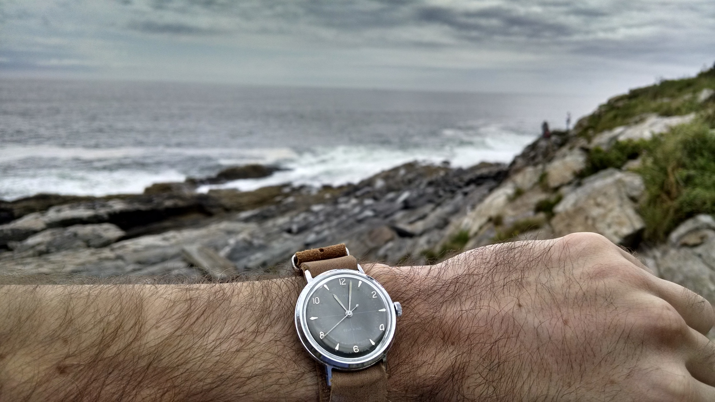 1960's Timex Self-Wind  Pemaquid Point, Bristol, Maine