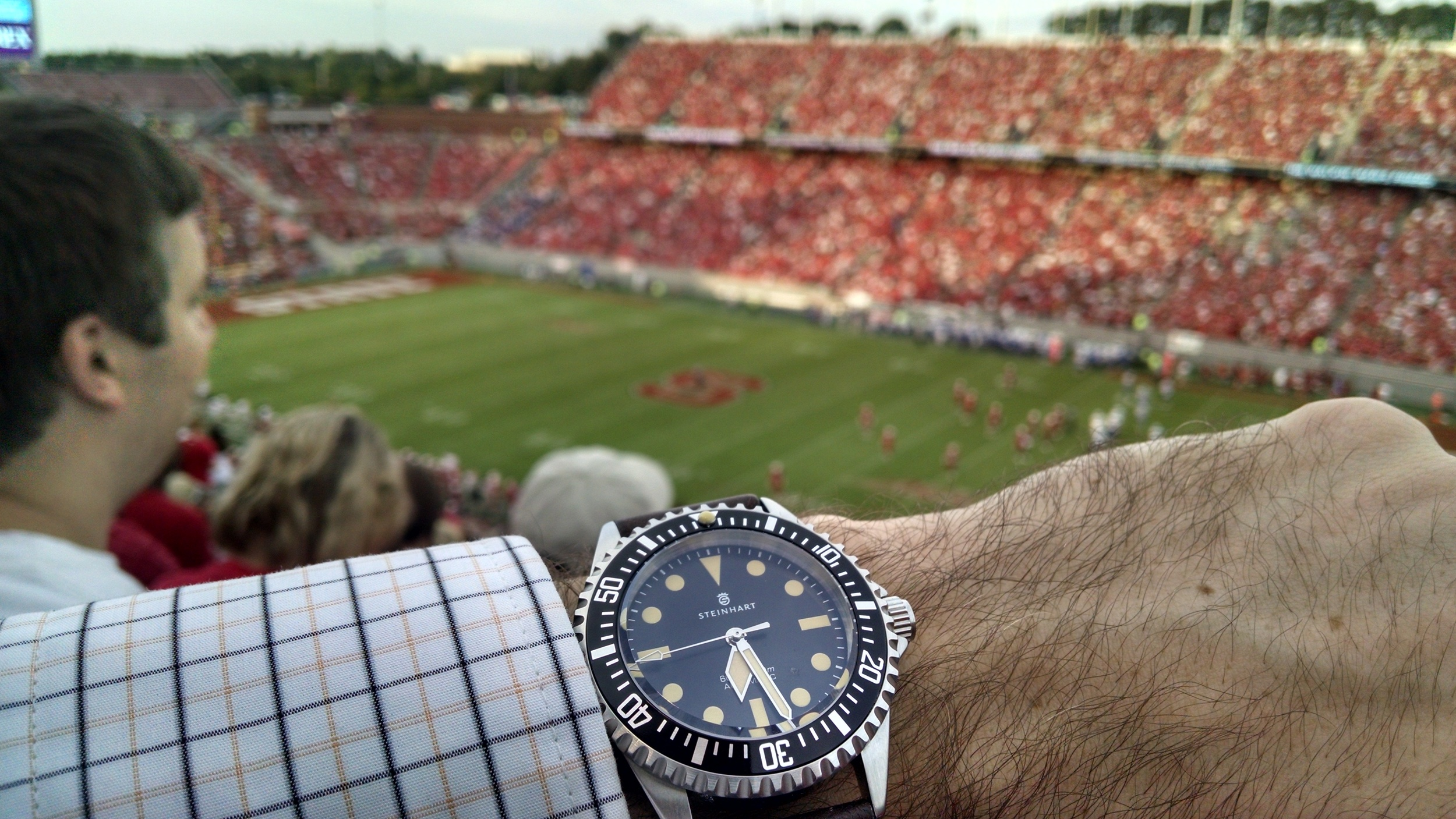 Steinhart Ocean Vintage Military submariner  Carter-Finley Stadium, NC State University  Raleigh, North Carolina
