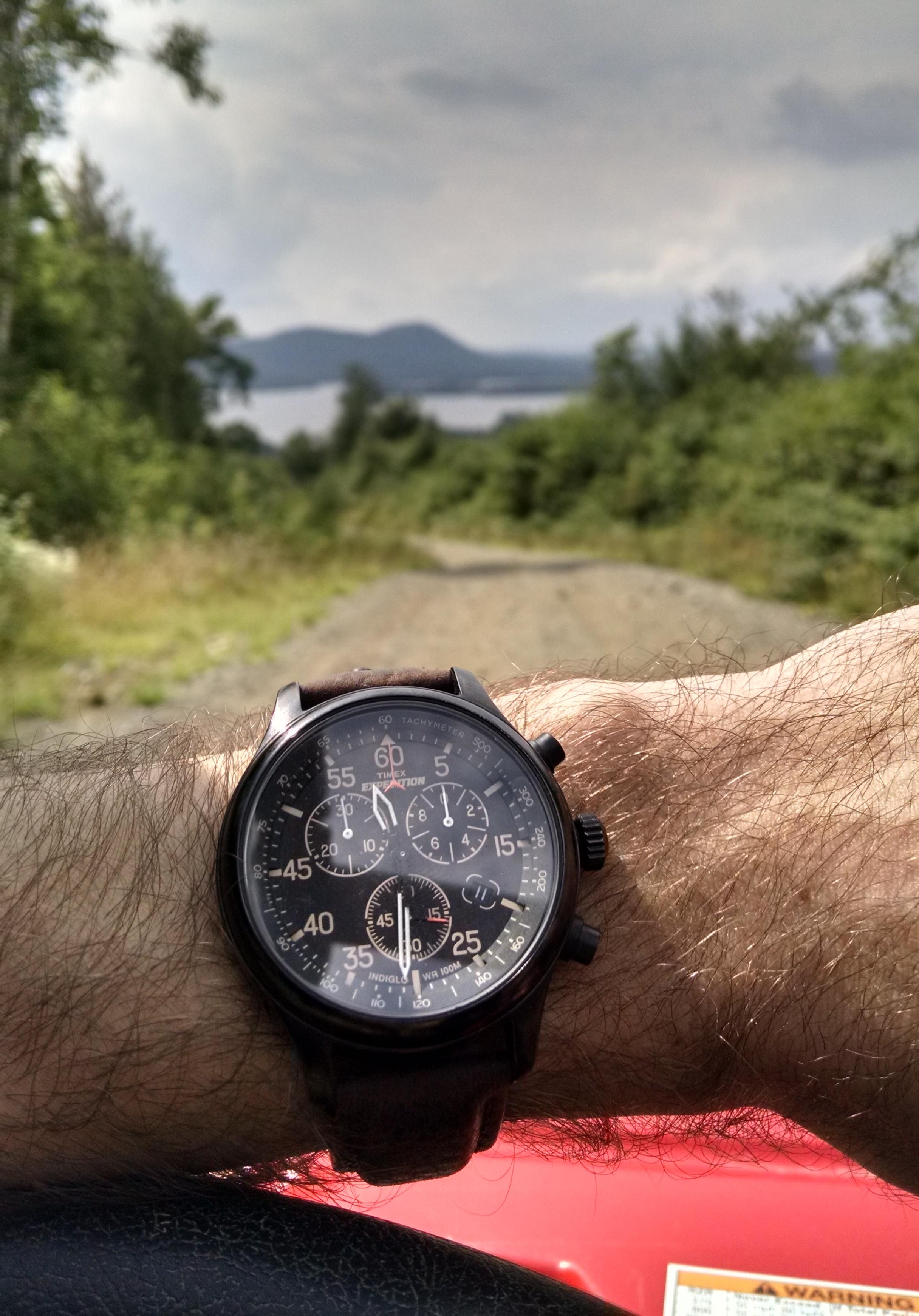 Timex navigator on OHV trails  Moosehead Lake, Greenville, Maine