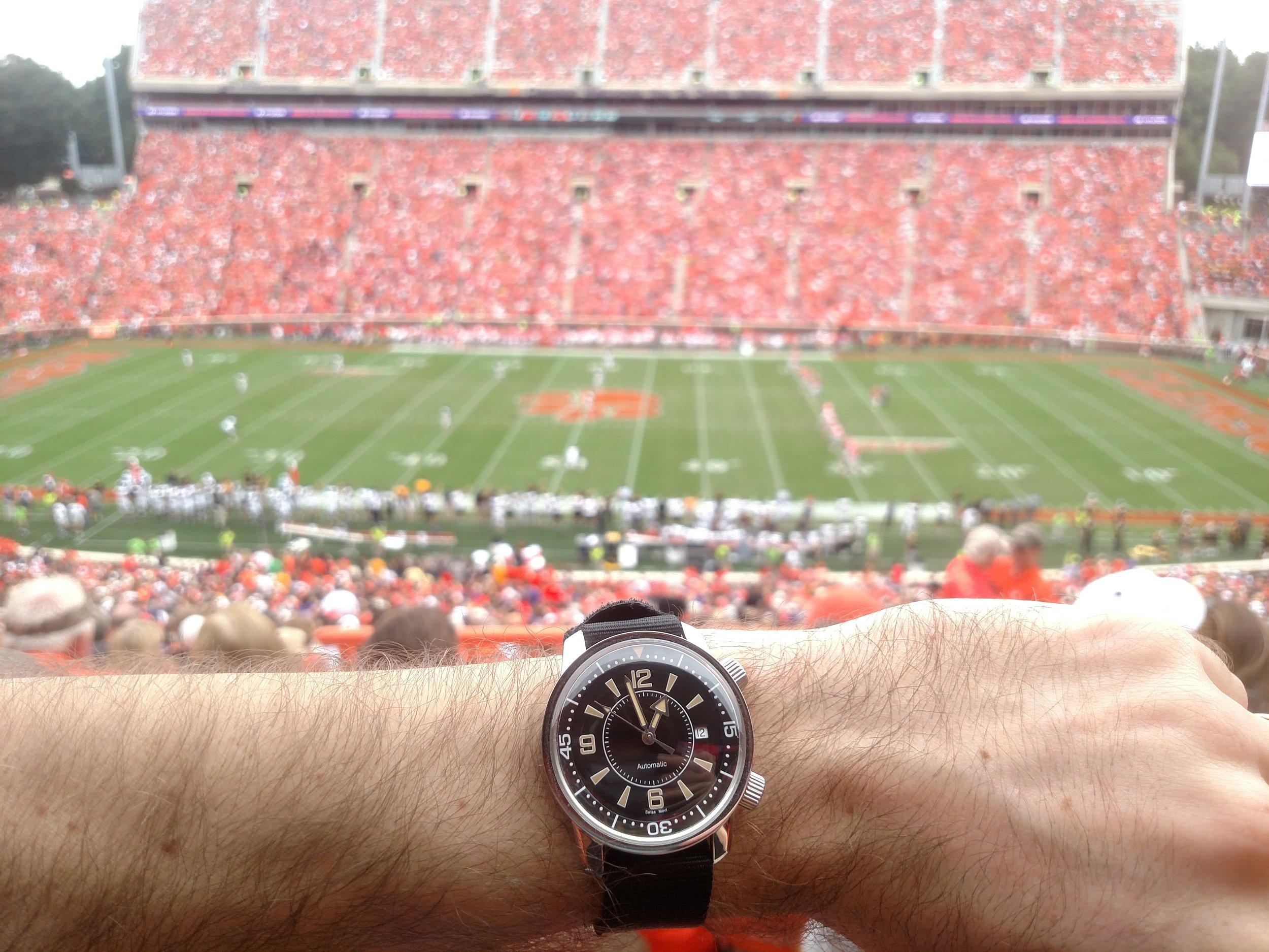 "BOT compressor watch at Clemson University's ""Death Valley""  Memorial Stadium, Clemson, South Carolina"