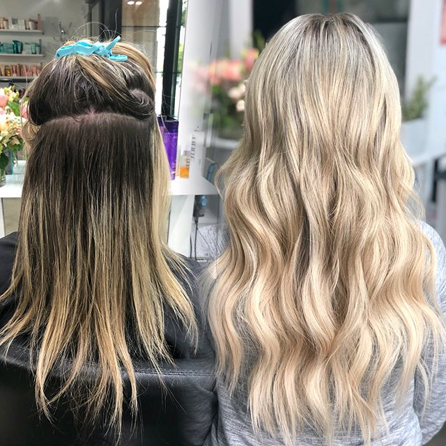 ✨Now booking 2019✨ I only have a couple spots left this fall for complete transformations (removal of old extensions, color and full head installations) 🔗click link in bio to book your dream hair consultation before Santa comes to town ❣️ @thairapypdx @behindthechair_com @greatlengthsusa #lyndsaymaderishair #behindthechair