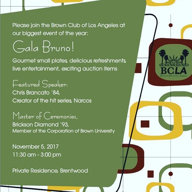 GaLA BRUno is on Sunday, November 5! Get your tickets today! (Link in bio)