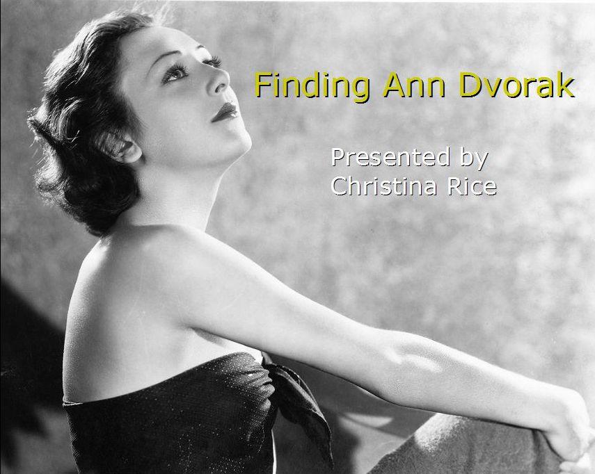 Finding Ann Dvorak