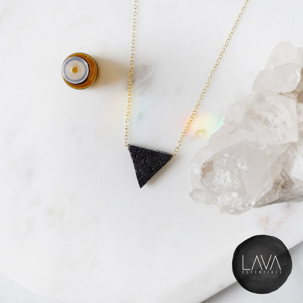 Triangle Essential Oil Diffuser Necklace by LAVA, $36.99