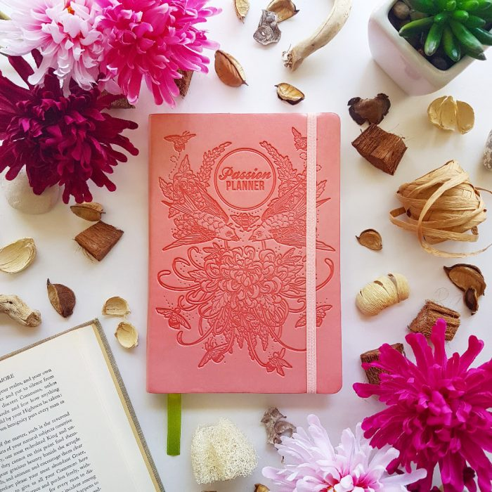 Undated Cosmic Rose Gold Planner by Passion Planner, $35.00