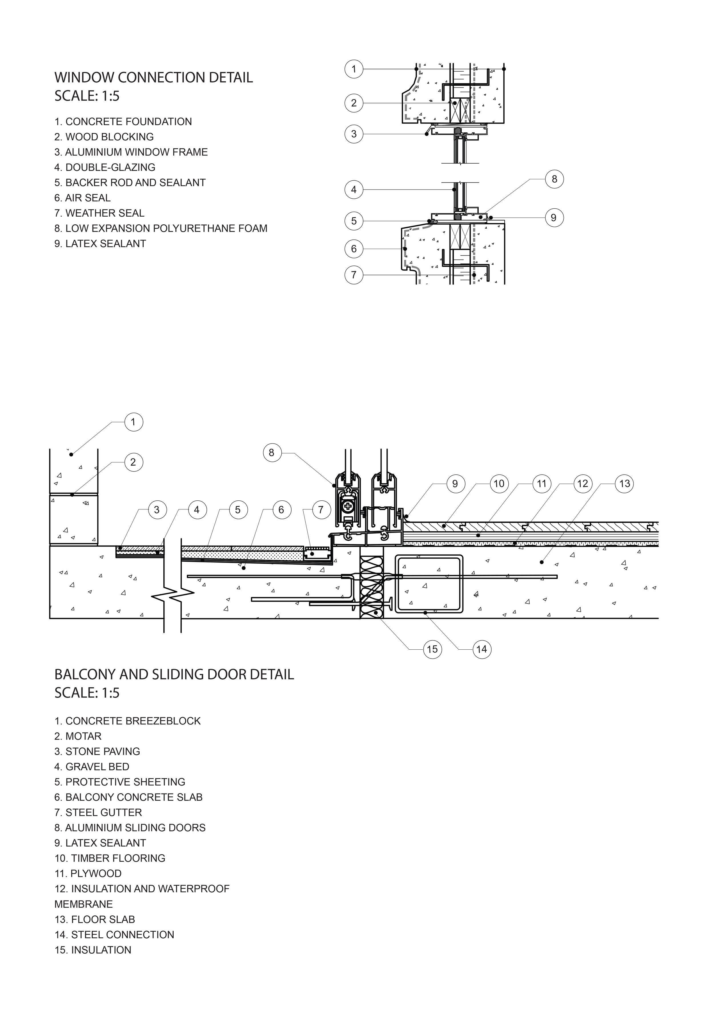 concrete balcony detail CONSTRUCTION 4mLs