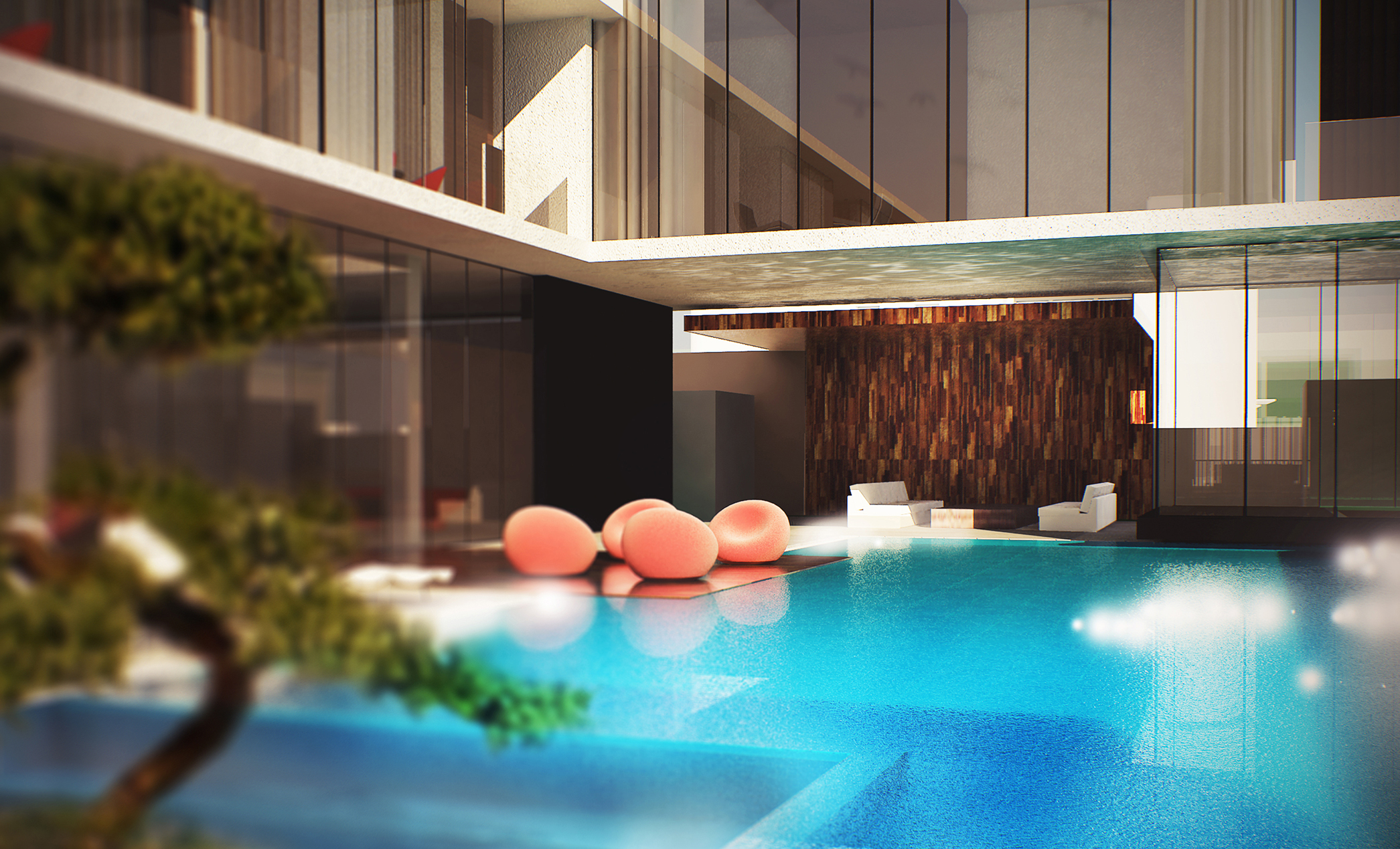 BEAD Contemporary villa 1 pool sitting.JPG