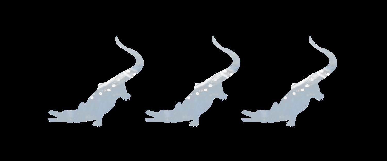 Three blue alligators.png