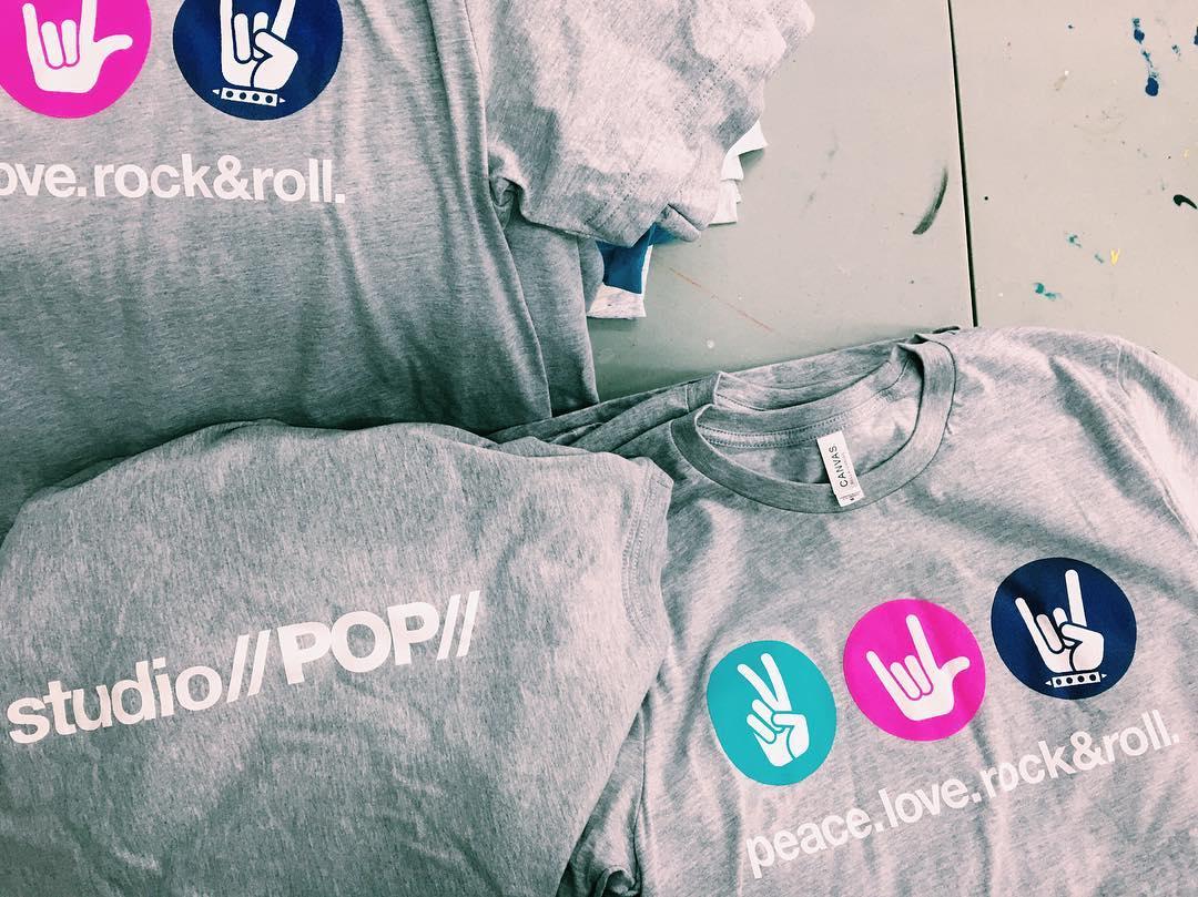 stacks of t-shirts