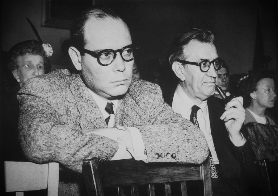 Paul Jarrico testifying to the House Un-American Activities Committee in 1951.