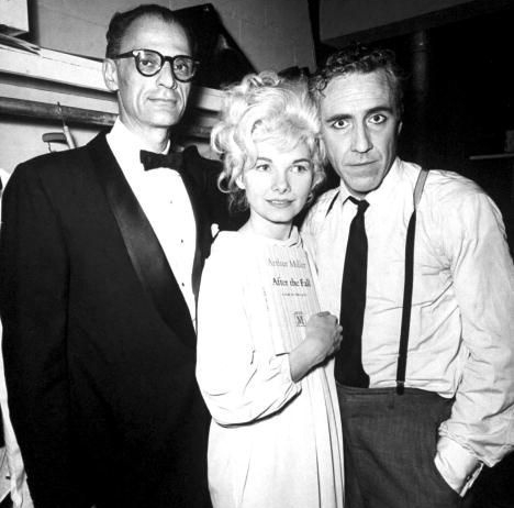 Author Arthur Miller, Barbara Loden and Jason Robards Jr.,  After the Fall, 1964