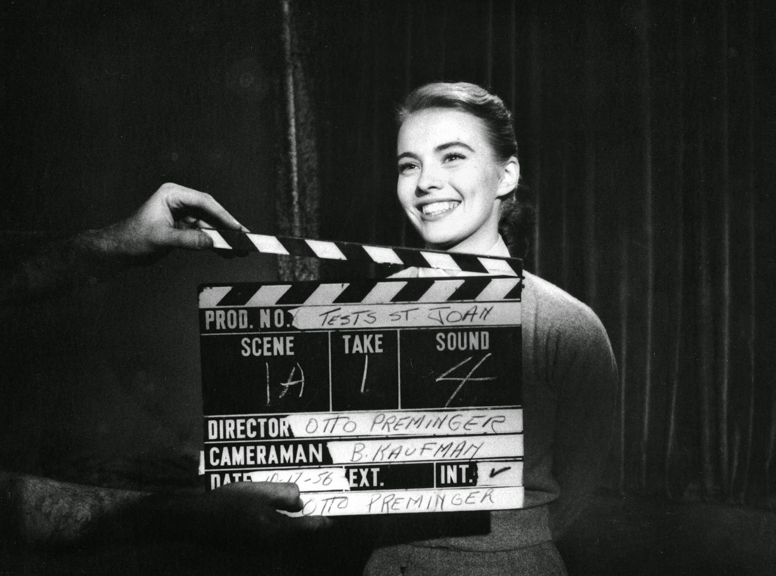 Jean Seberg at her screen test for Saint Joan, 1956, Photo Bob Willoughby