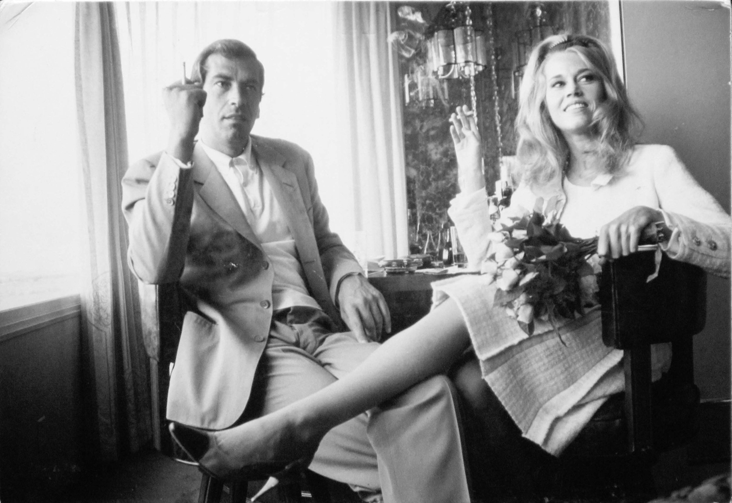 Jane Fonda and Roger Vadim at ther wedding in Las Vegas, 1965, Photo by Dennis Hopper